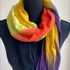 Tie Dye Summer Scarf in super light cotton